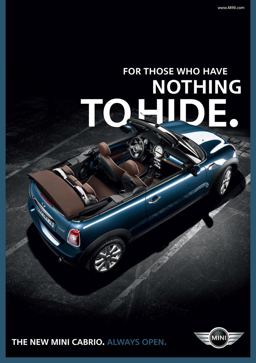Mini Print Ad -  Nothing to hide