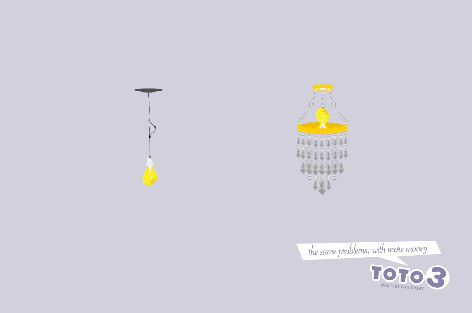 Toto 3 Print Ad -  Bulb