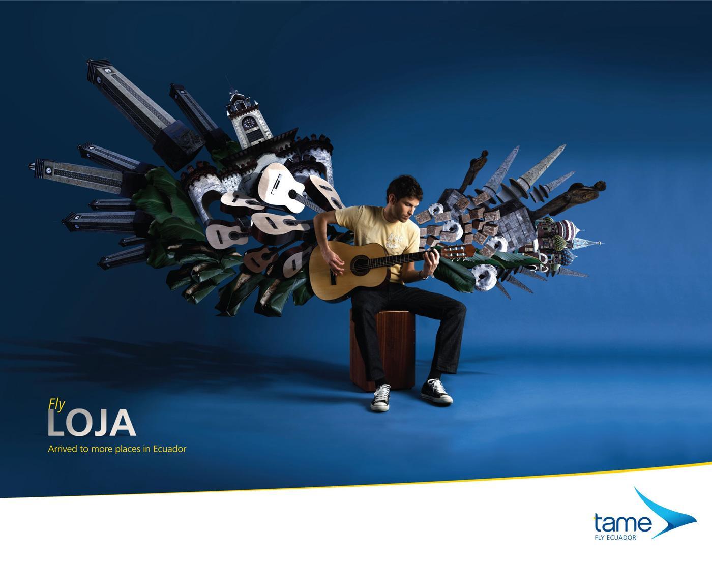 Tame Ecuador Airlines Print Ad -  Fly Loja