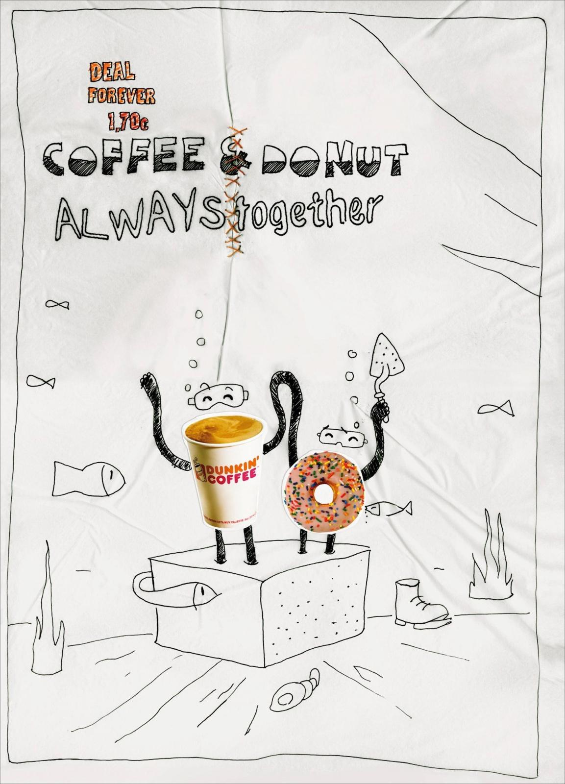 Dunkin' Donuts Print Ad -  Cement Shoes