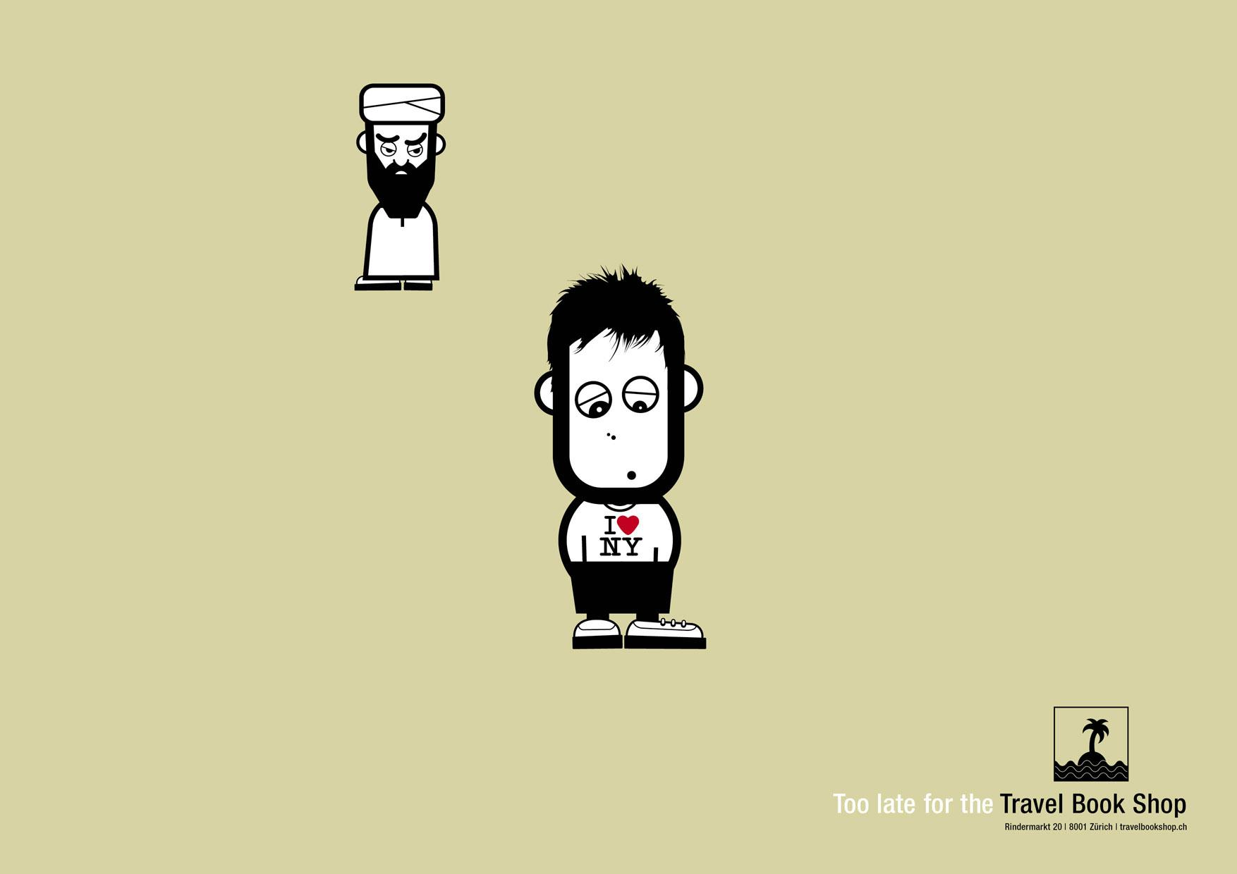 Travel Book Shop Print Ad -  Taliban