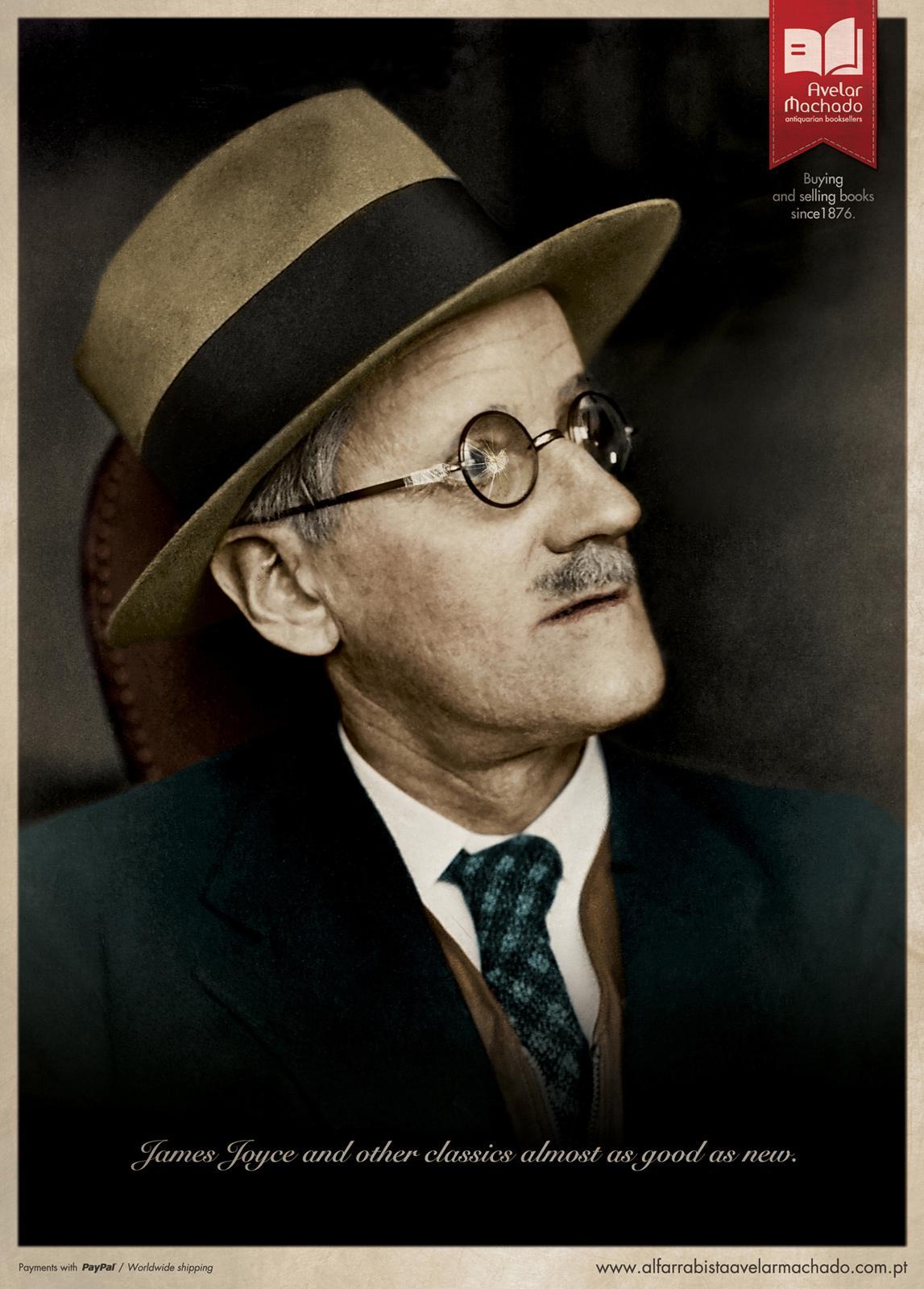 Avelar Machado Print Ad -  James Joyce