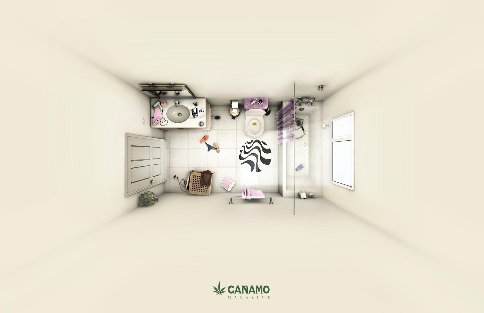 Cañamo Magazine Print Ad -  Bath