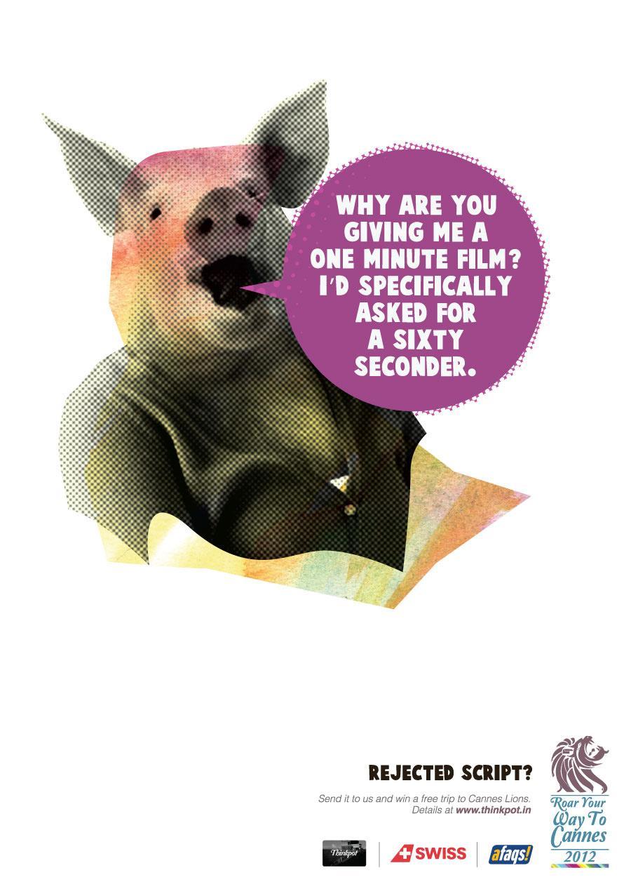 Thinkpot Print Ad -  Swine
