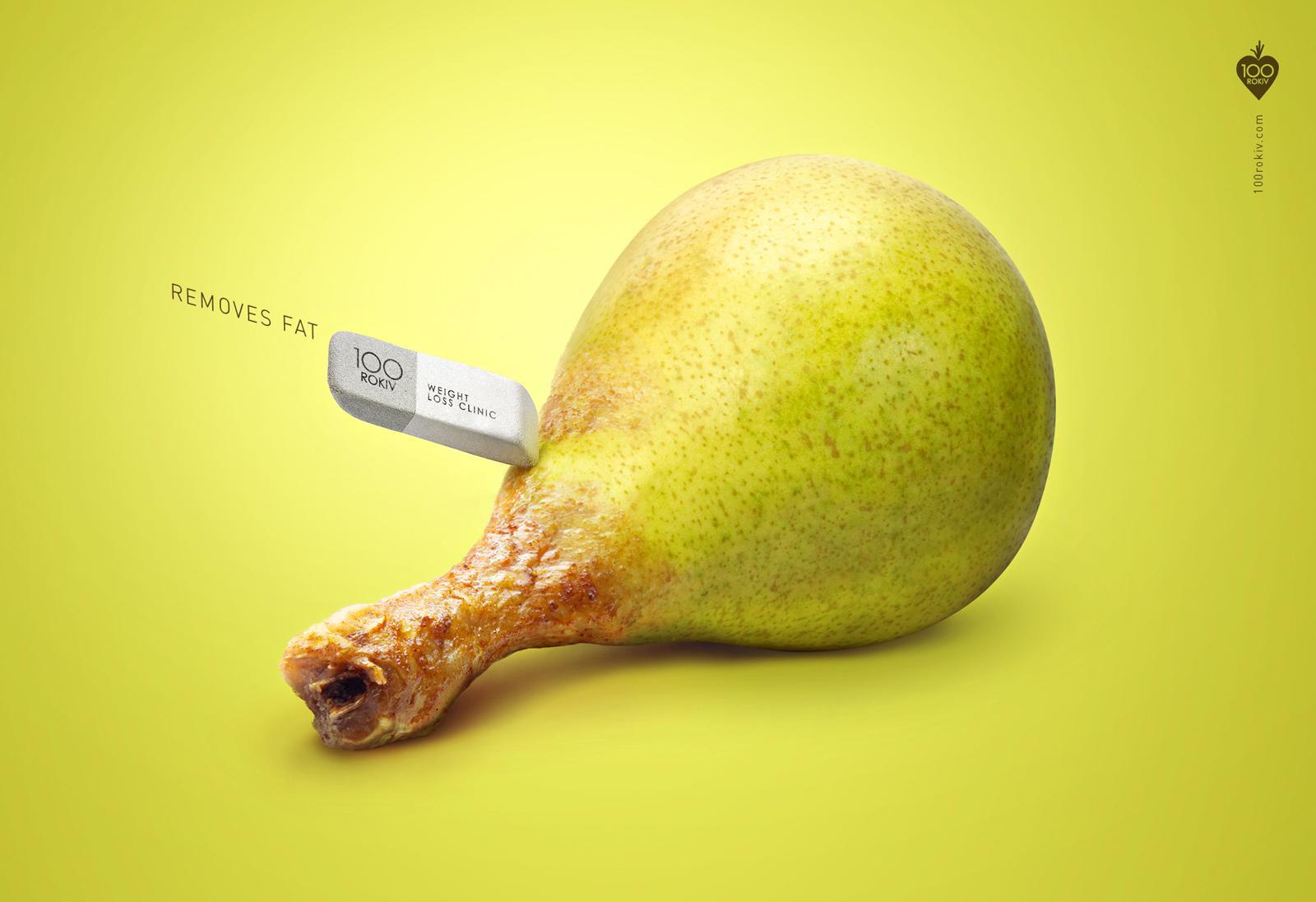 100 Rokiv Print Ad -  Chicken