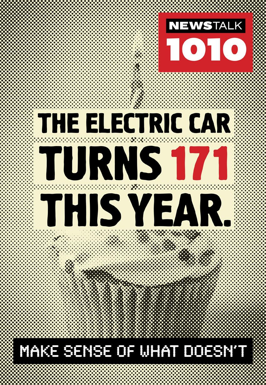 Newstalk 1010 Print Ad -  Electric car