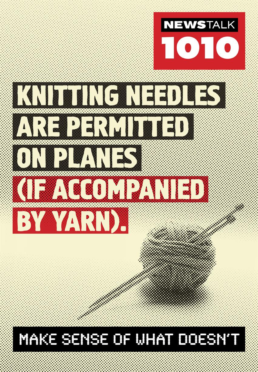 Newstalk 1010 Print Ad -  Knitting