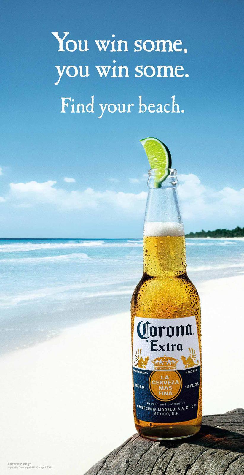 Corona Beer Outdoor Ad -  Win some