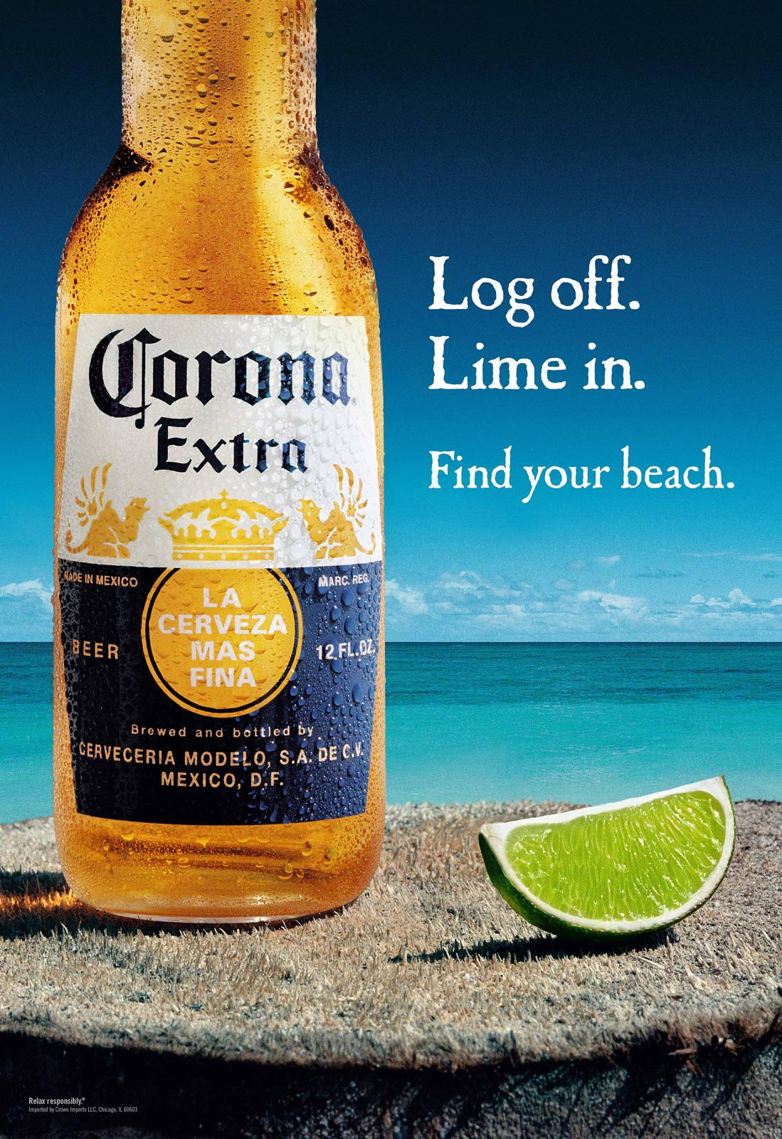 Corona Beer Outdoor Ad -  Log off