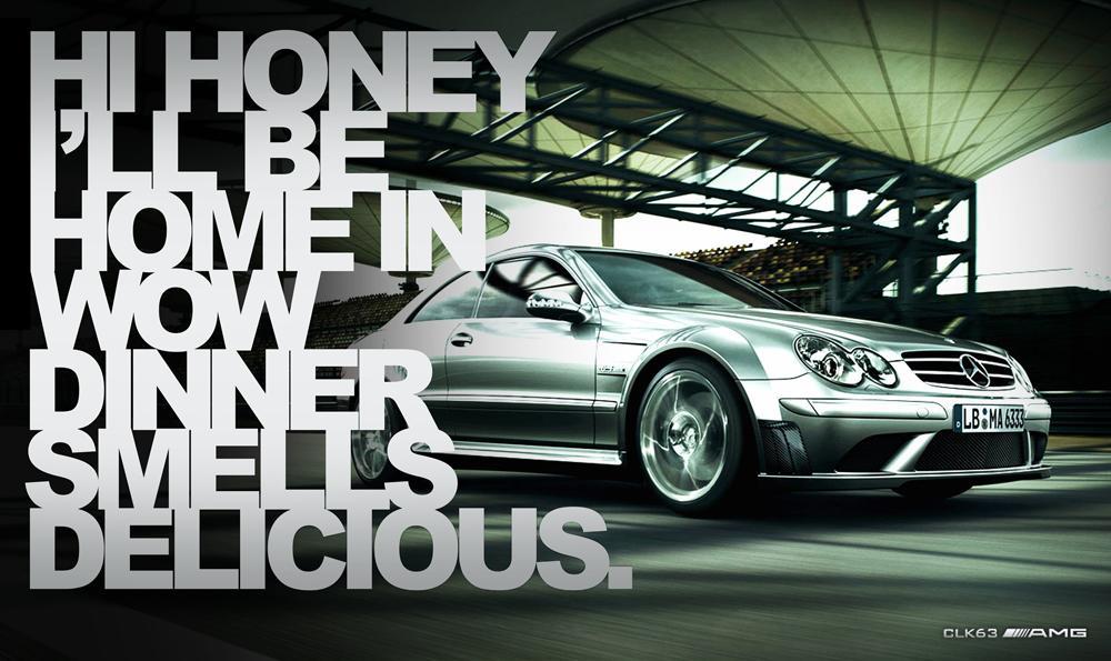 Mercedes Print Ad -  Dinner