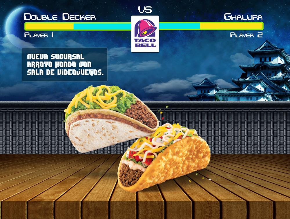 Taco Bell Print Ad -  Arroyo Hondo with video game arcade, 3
