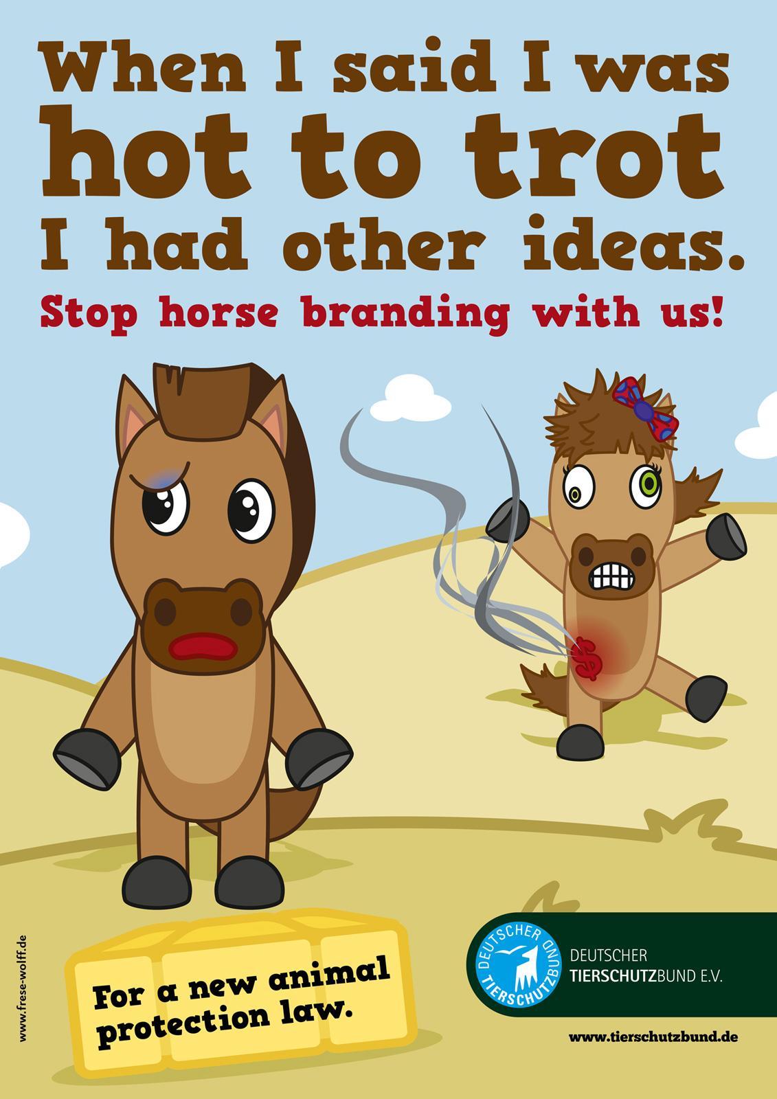 Deutscher Tierschutz Print Ad -  Horse