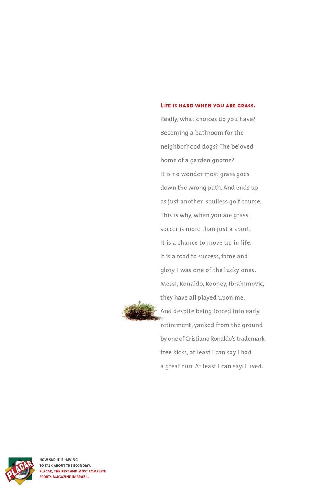 Placar Print Ad -  Proud, Grass
