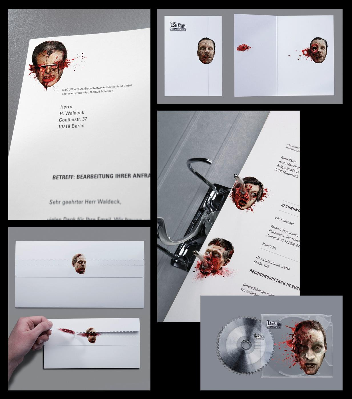 13th Street Direct Ad -  Stationery of Horror