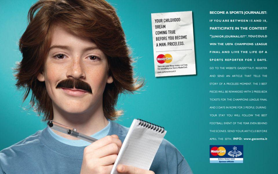 MasterCard Print Ad -  Junior Journalist