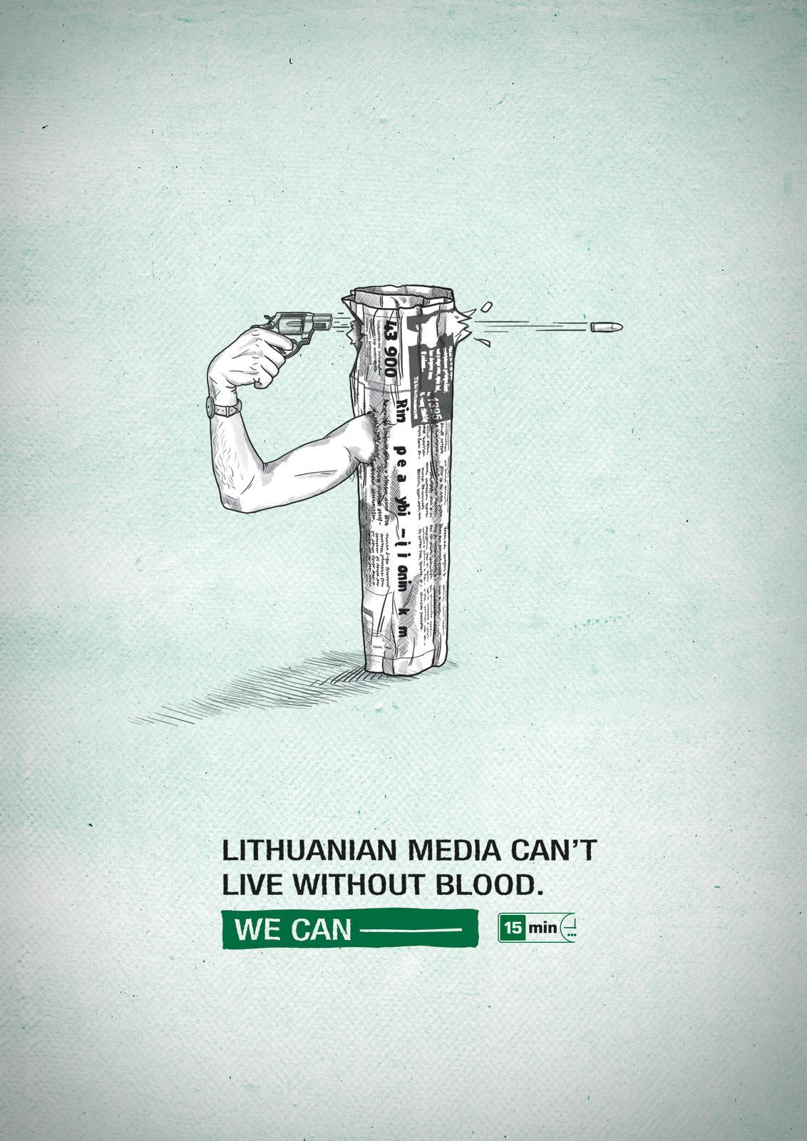 15min newspaper Print Ad -  Blood