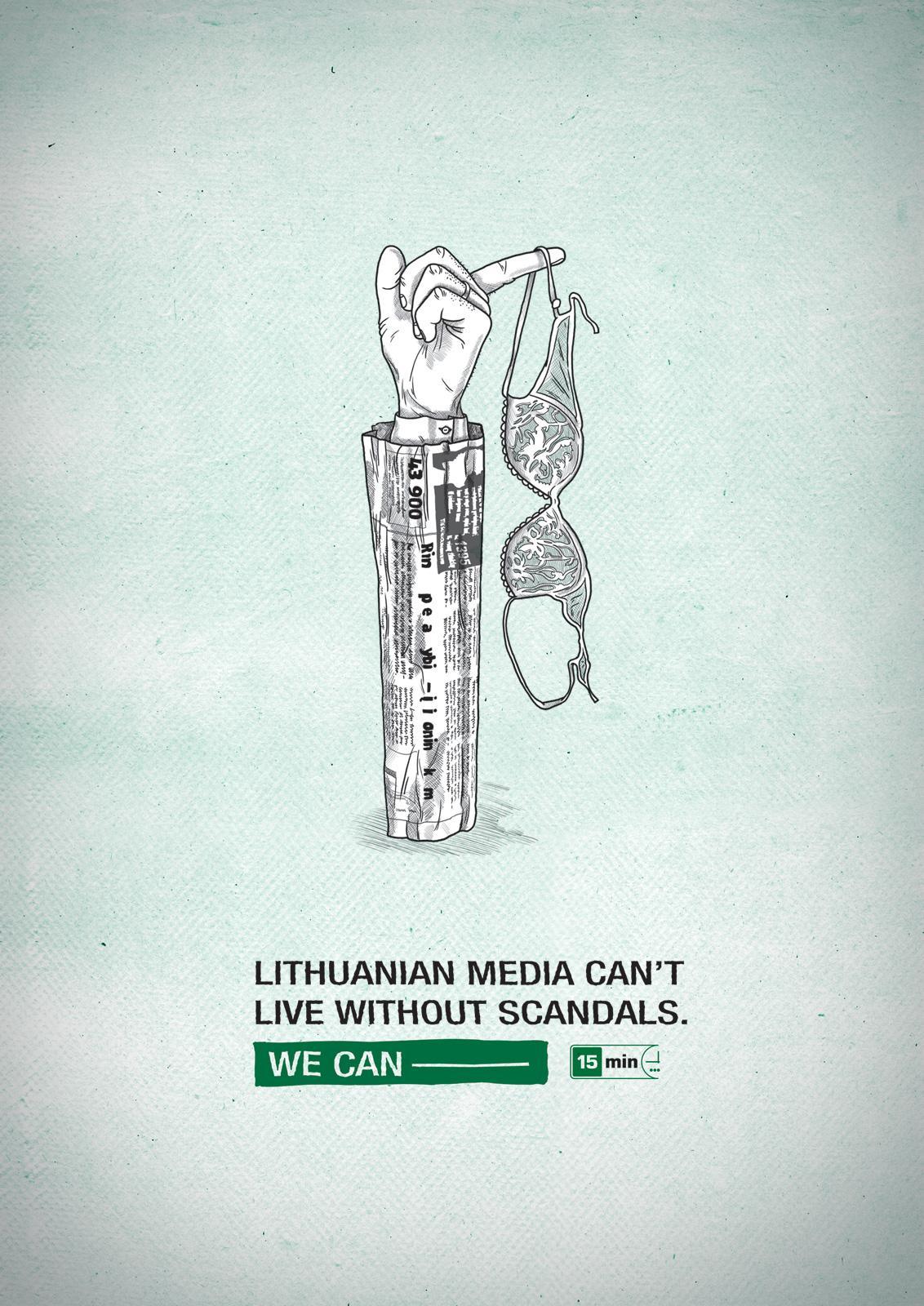 15min newspaper Print Ad -  Scandals