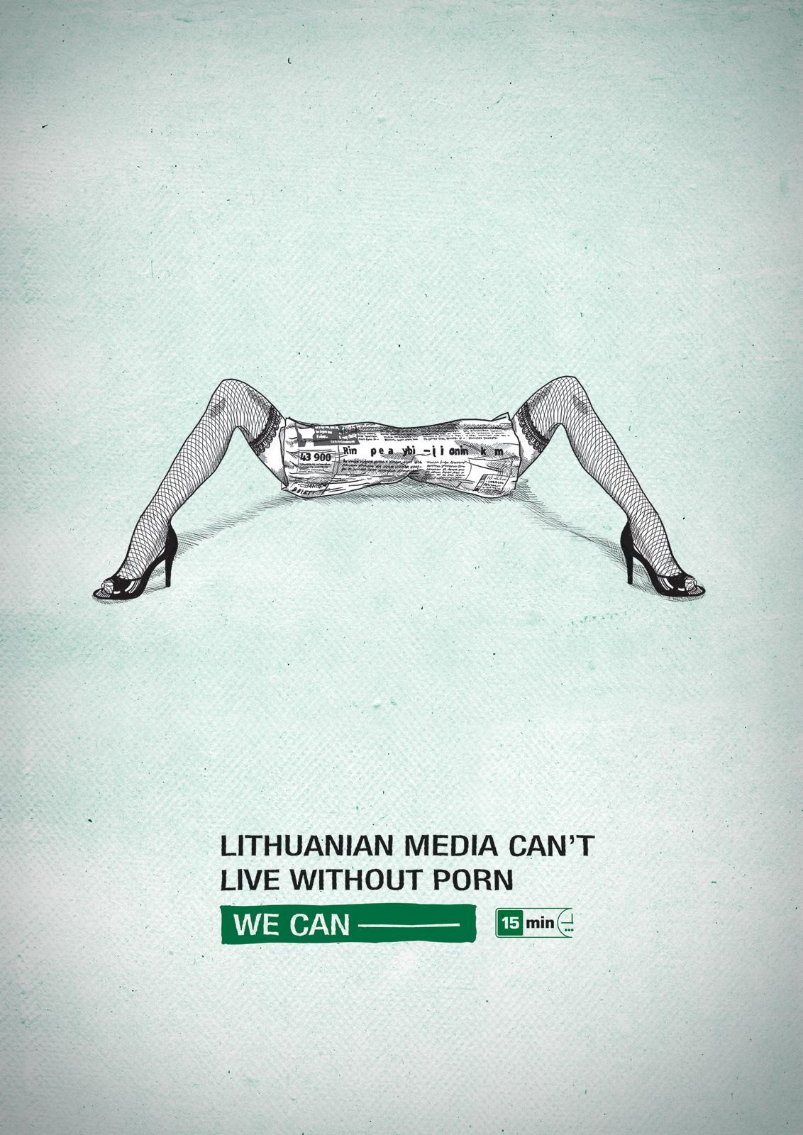 15min newspaper Print Ad -  Porn