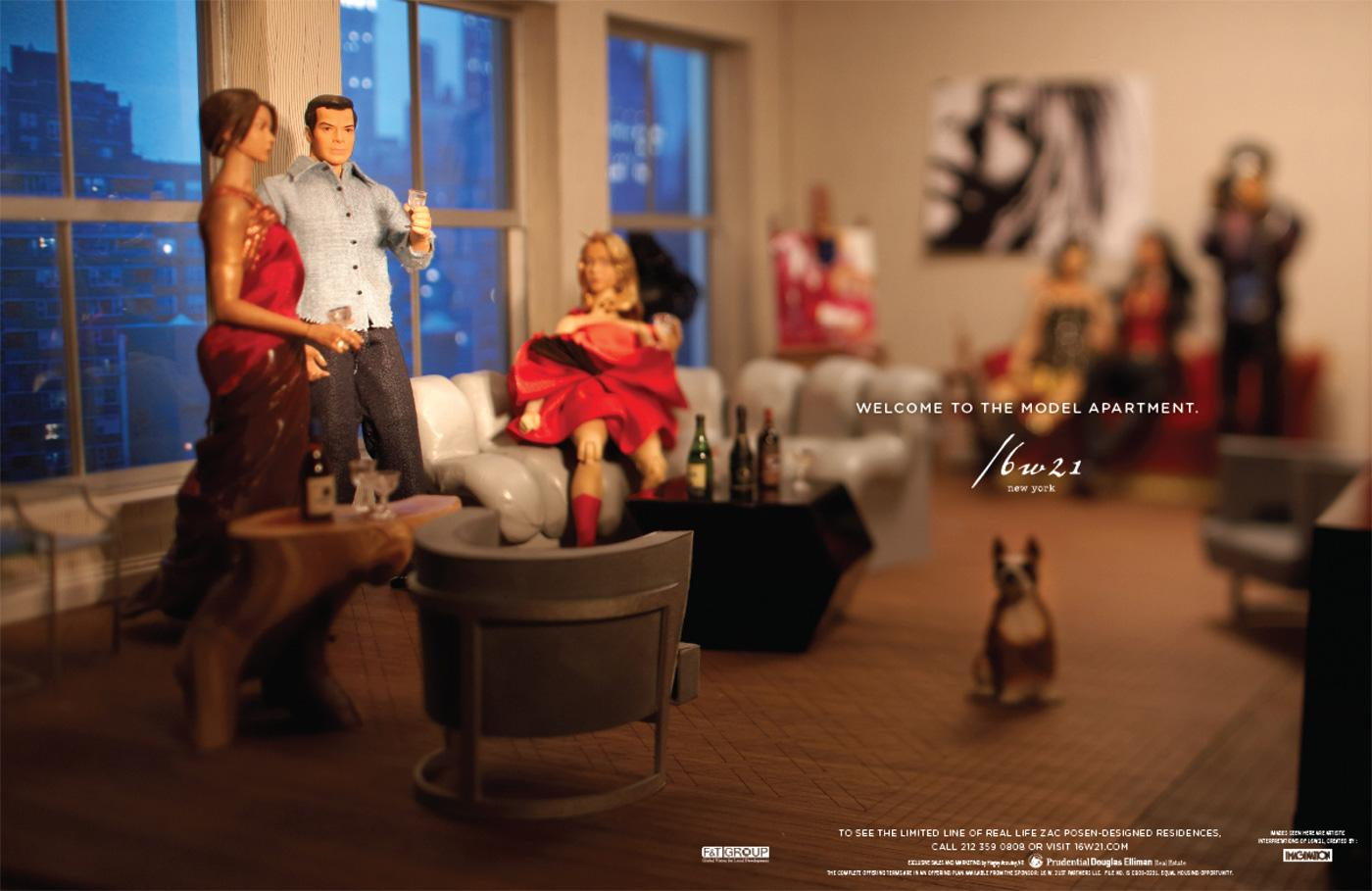 The Model Apartment Print Ad -  Living room