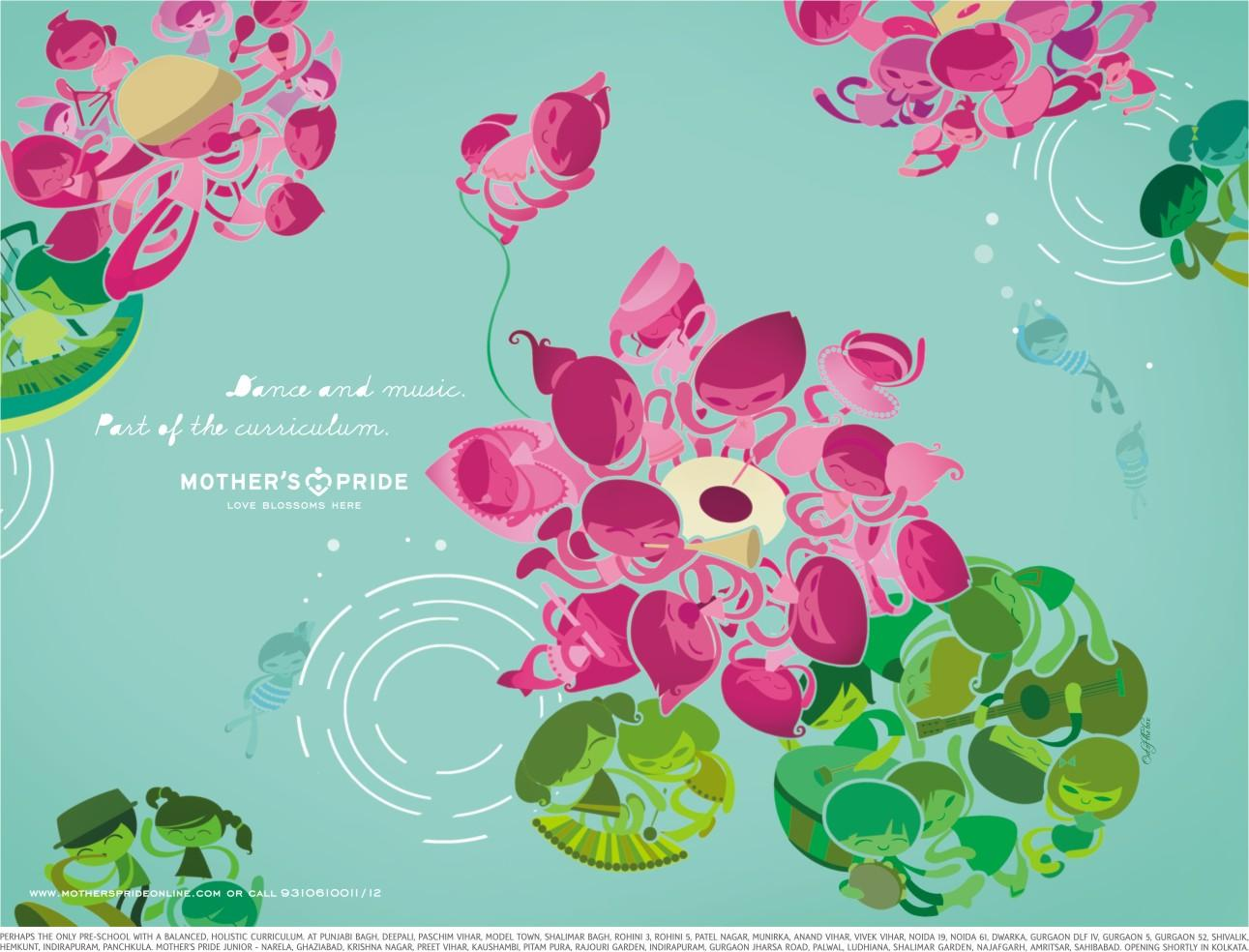 Mother's Pride Print Ad -  Dance and music