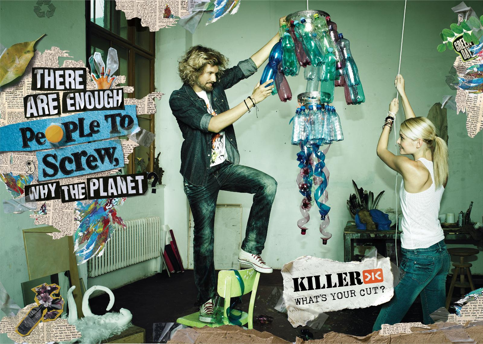 Killer Jeans Print Ad -  Recycle