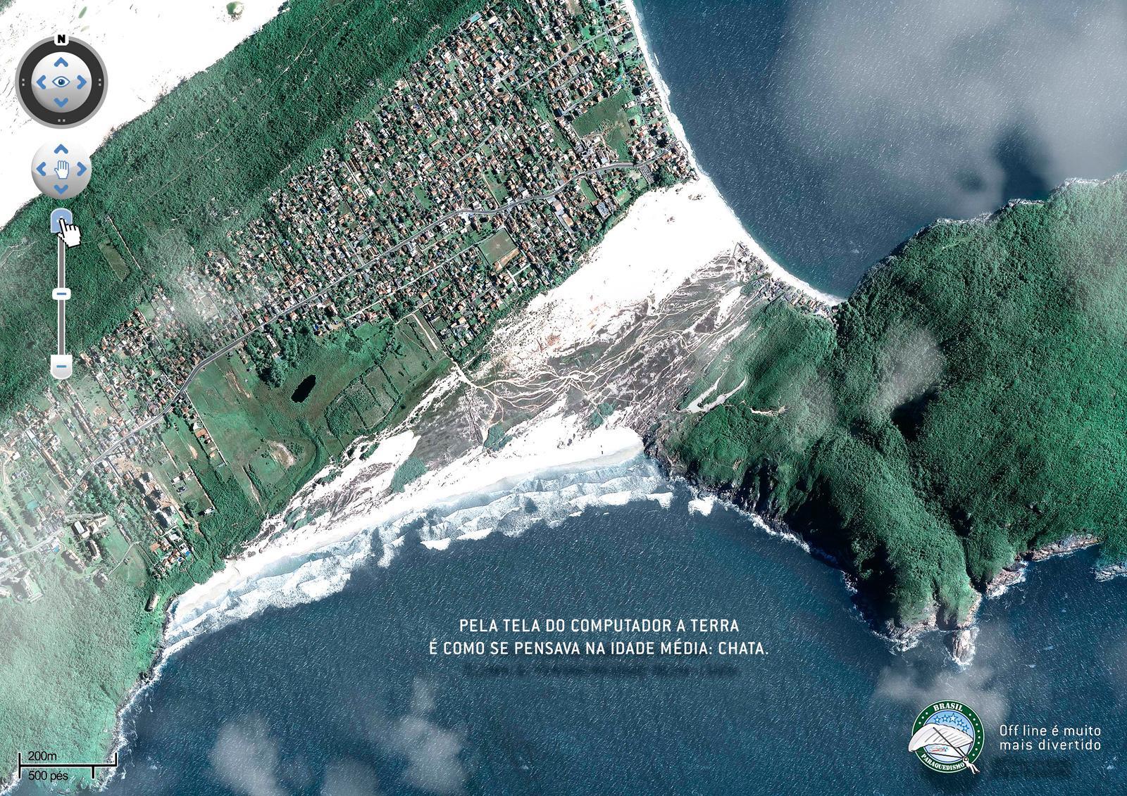 Brasil Paraquedismo Print Ad -  Florianópolis
