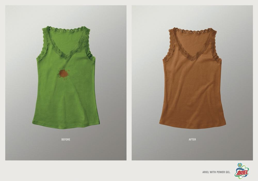 Ariel Print Ad -  Before and after