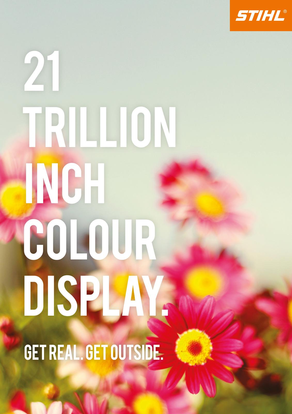 Stihl Print Ad -  21 Trillion Inch