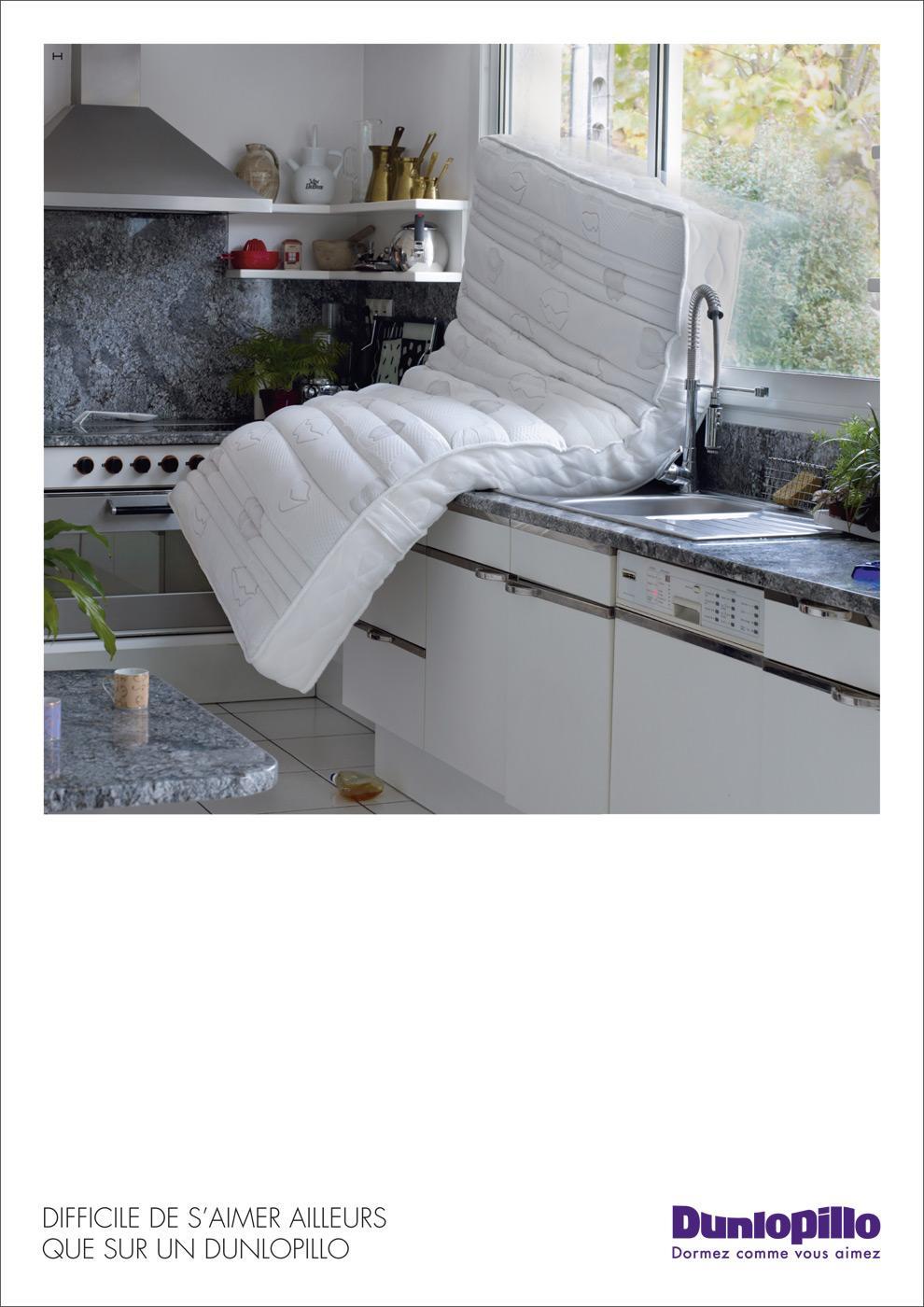 Dunlopillo Print Ad -  Kitchen