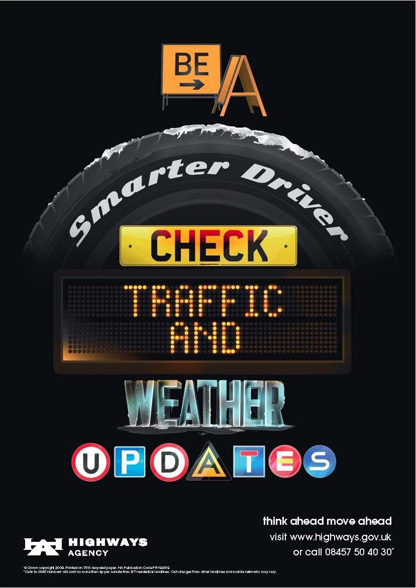 Highways Agency Print Ad -  Smarter driver