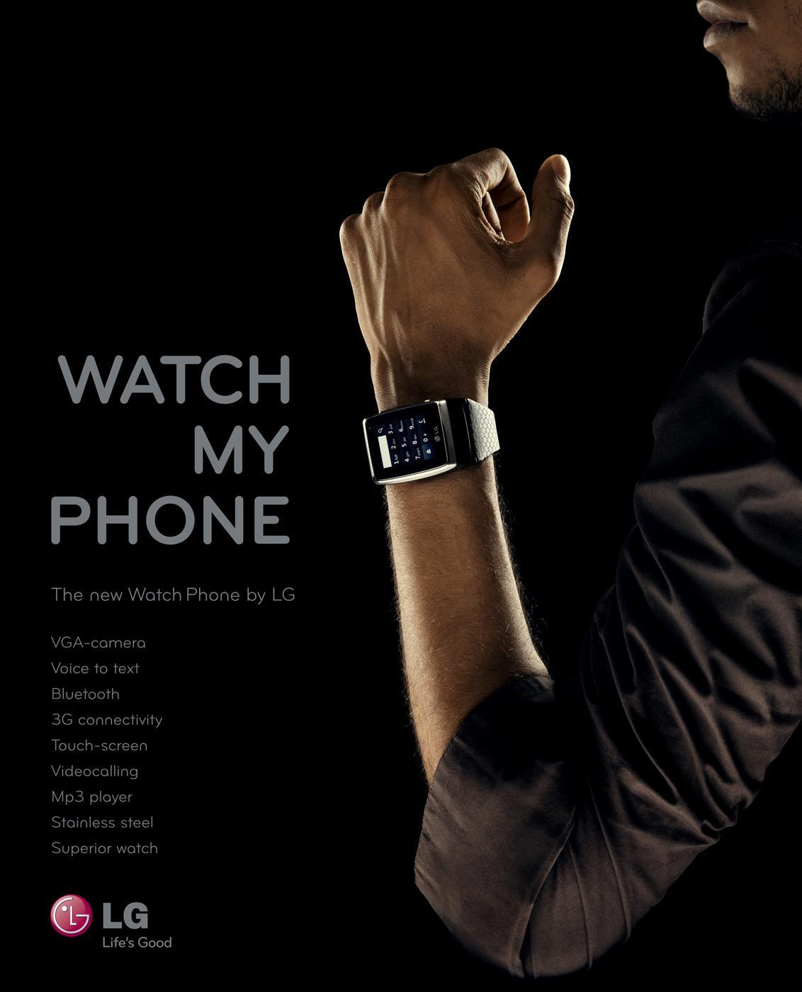 LG Print Ad -  Watch my Phone