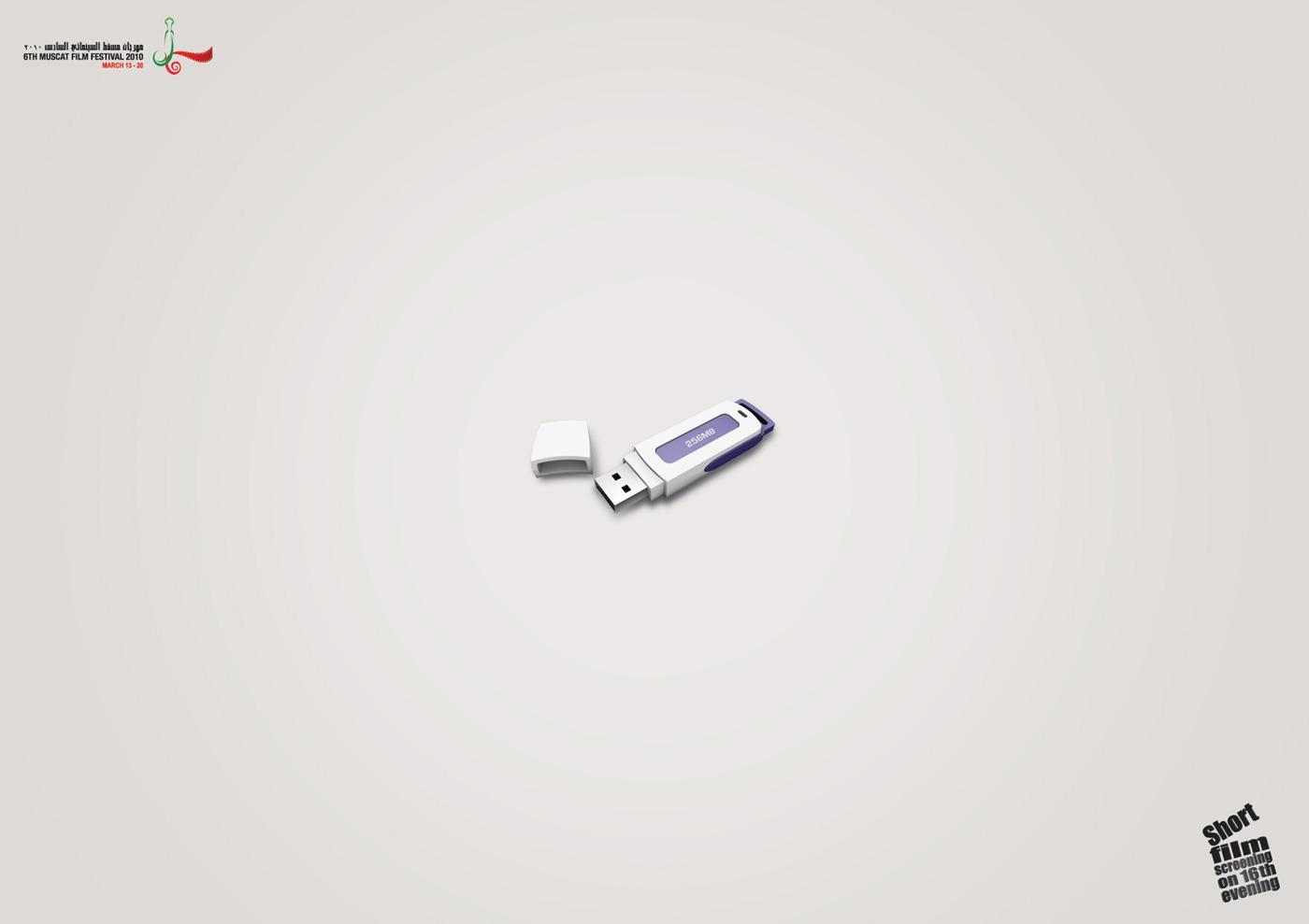 Muscat Film Festival Print Ad -  USB drive