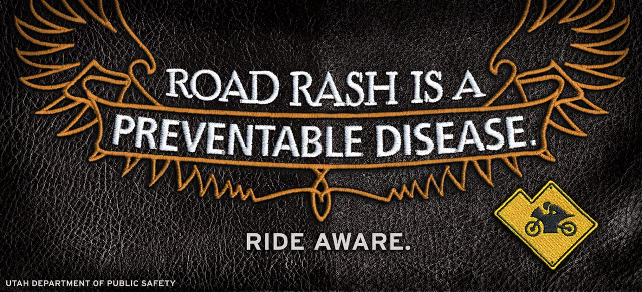 Utah Department of Public Safety Outdoor Ad -  Motorcycle Safety Campaign, Road rash