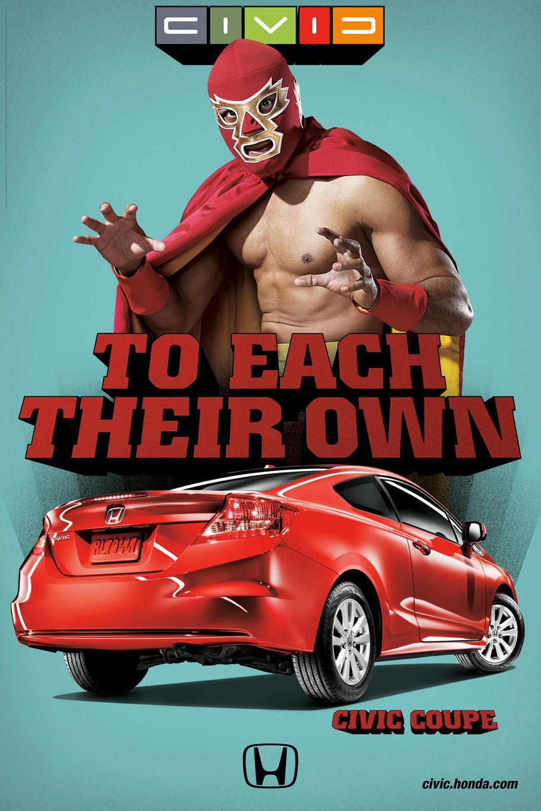 Honda Outdoor Ad -  Luchador