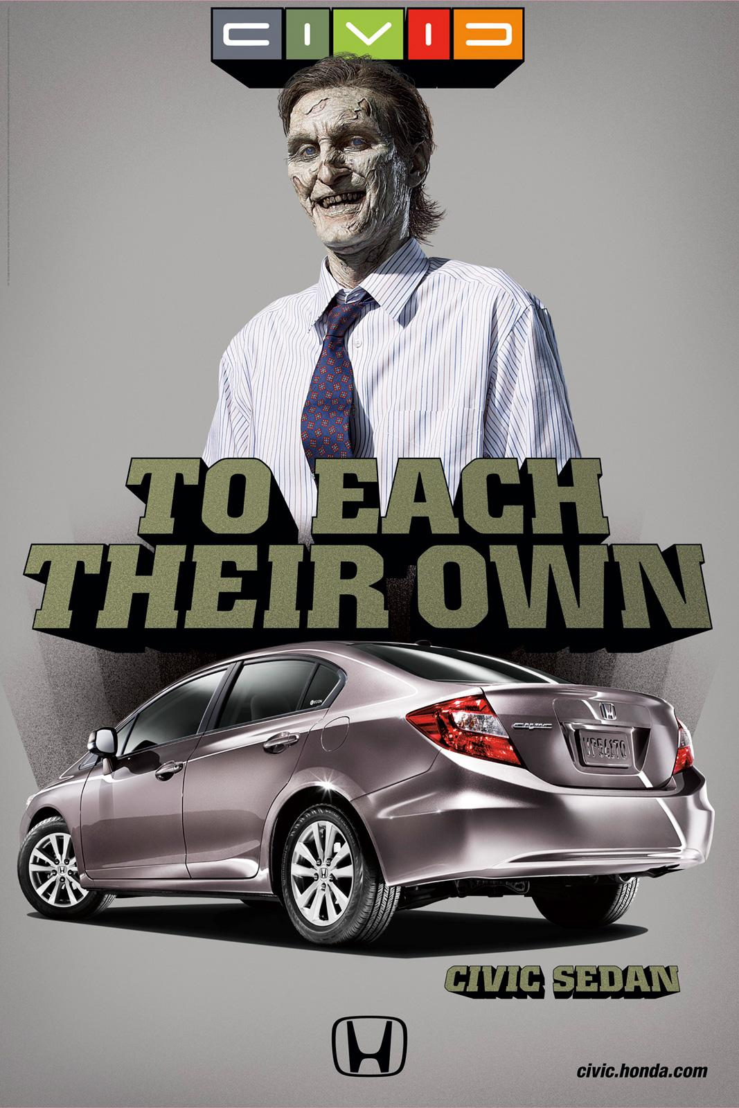 Honda Outdoor Ad -  Zombie
