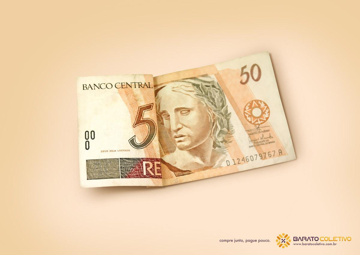Barato Coletivo Print Ad -  50 reais