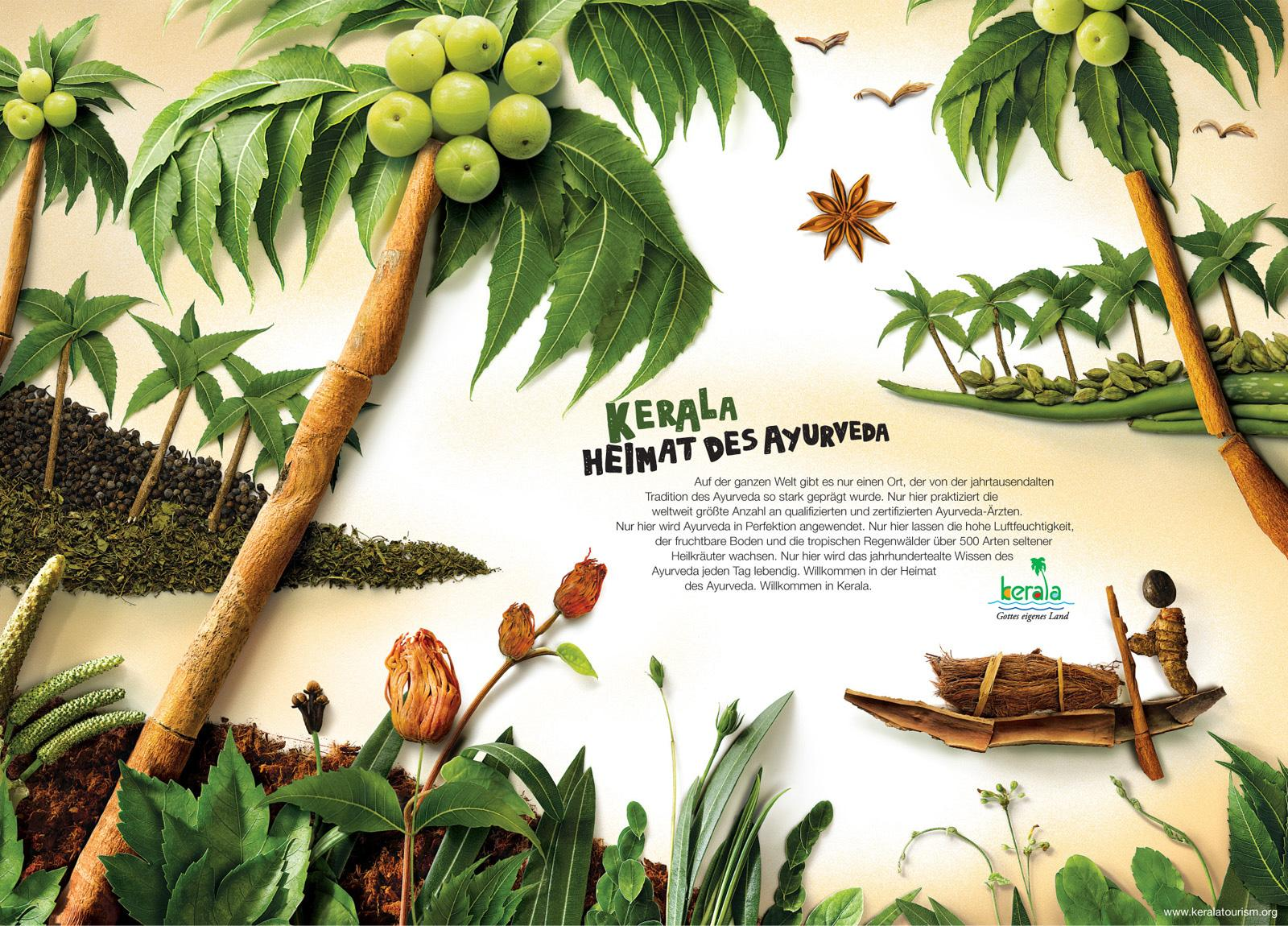 Kerala Tourism Print Ad -  Home of Ayurveda, 2
