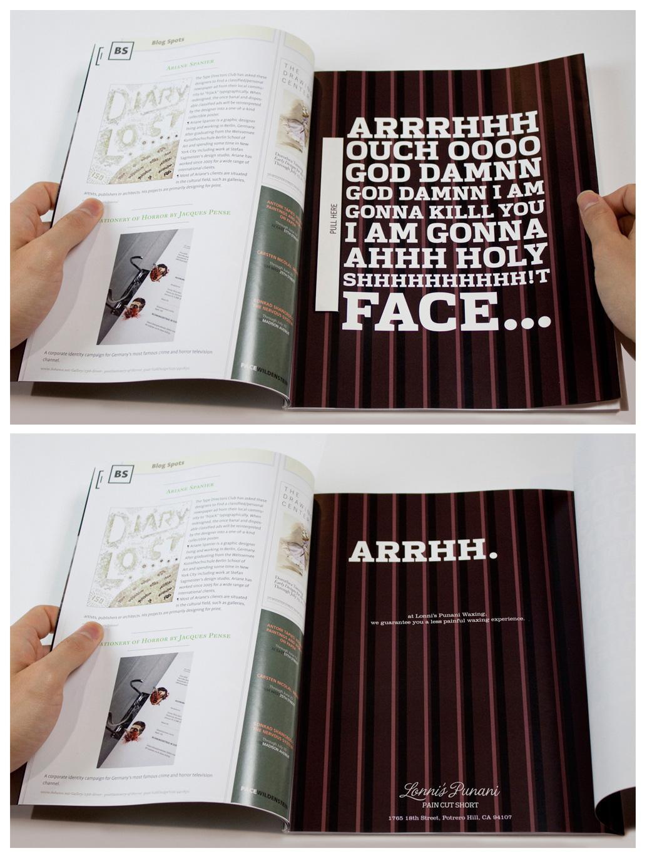 Lonni's Punani Waxing Print Ad -  Arrhh