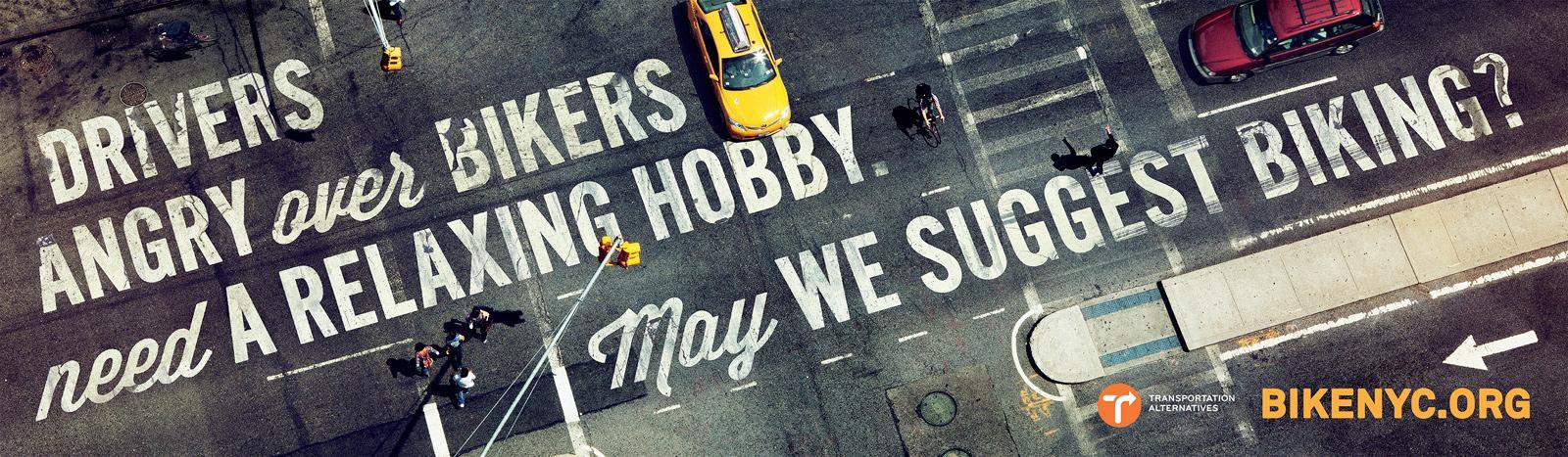 BikeNYC Outdoor Ad -  Relaxing Hobby