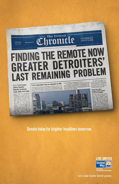 United Way Print Ad -  Remote