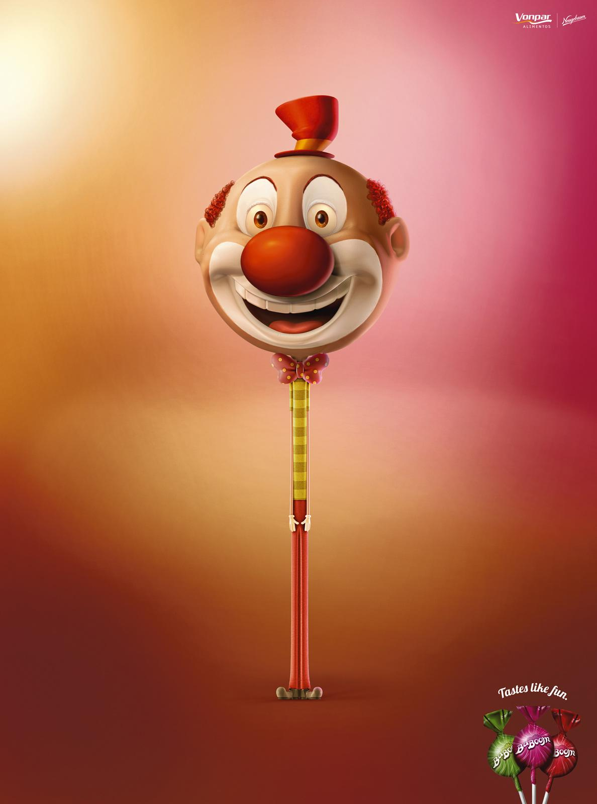 BaBoom Print Ad -  Clown