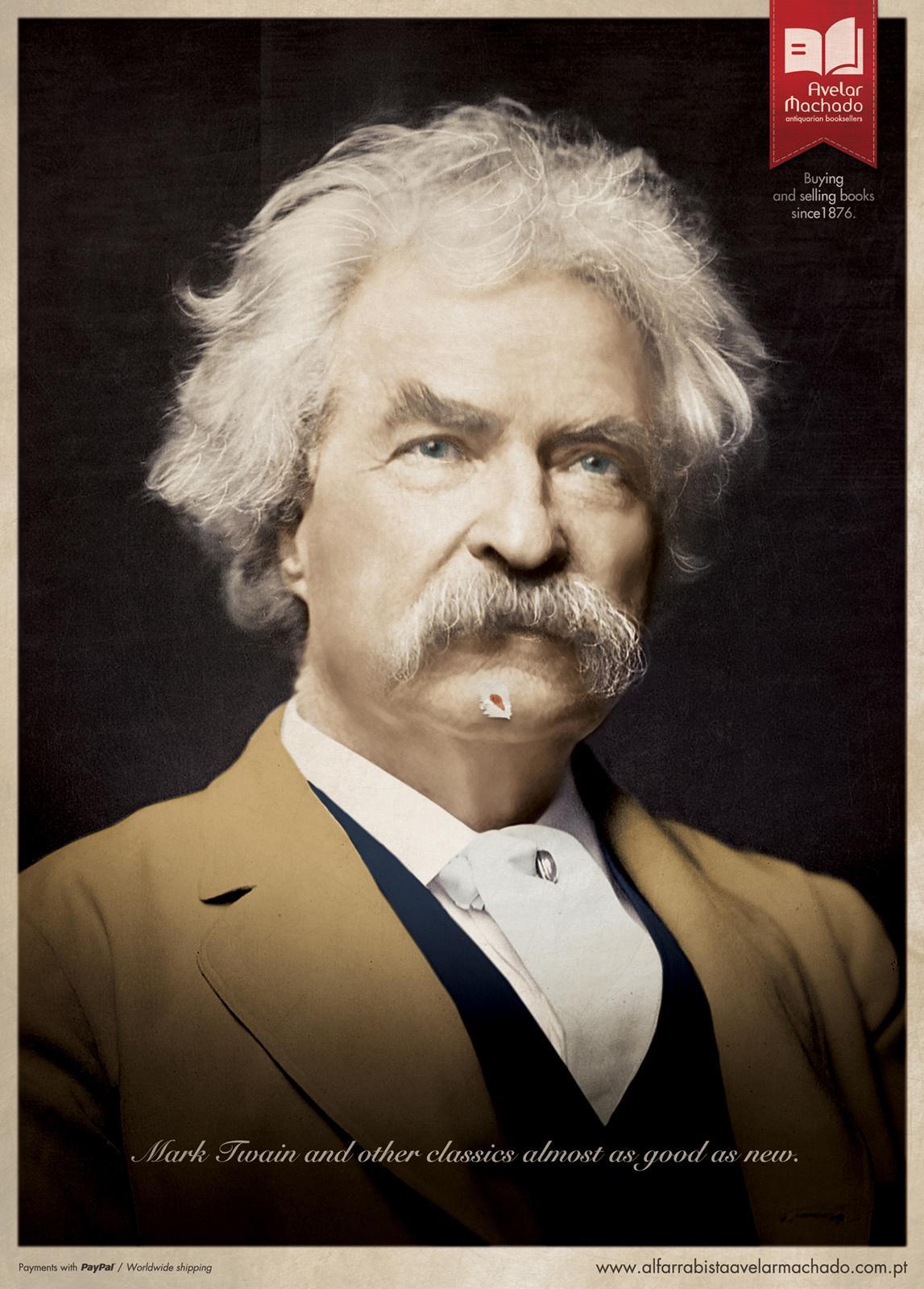 Avelar Machado Print Ad -  Mark Twain