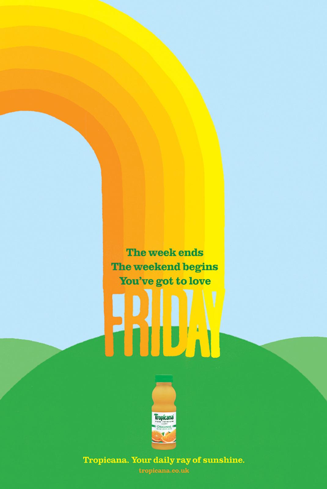 Tropicana Print Ad -  Your Daily Ray of Sunshine, Friday