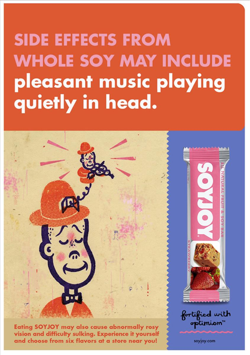 SoyJoy Print Ad -  Pleasant music