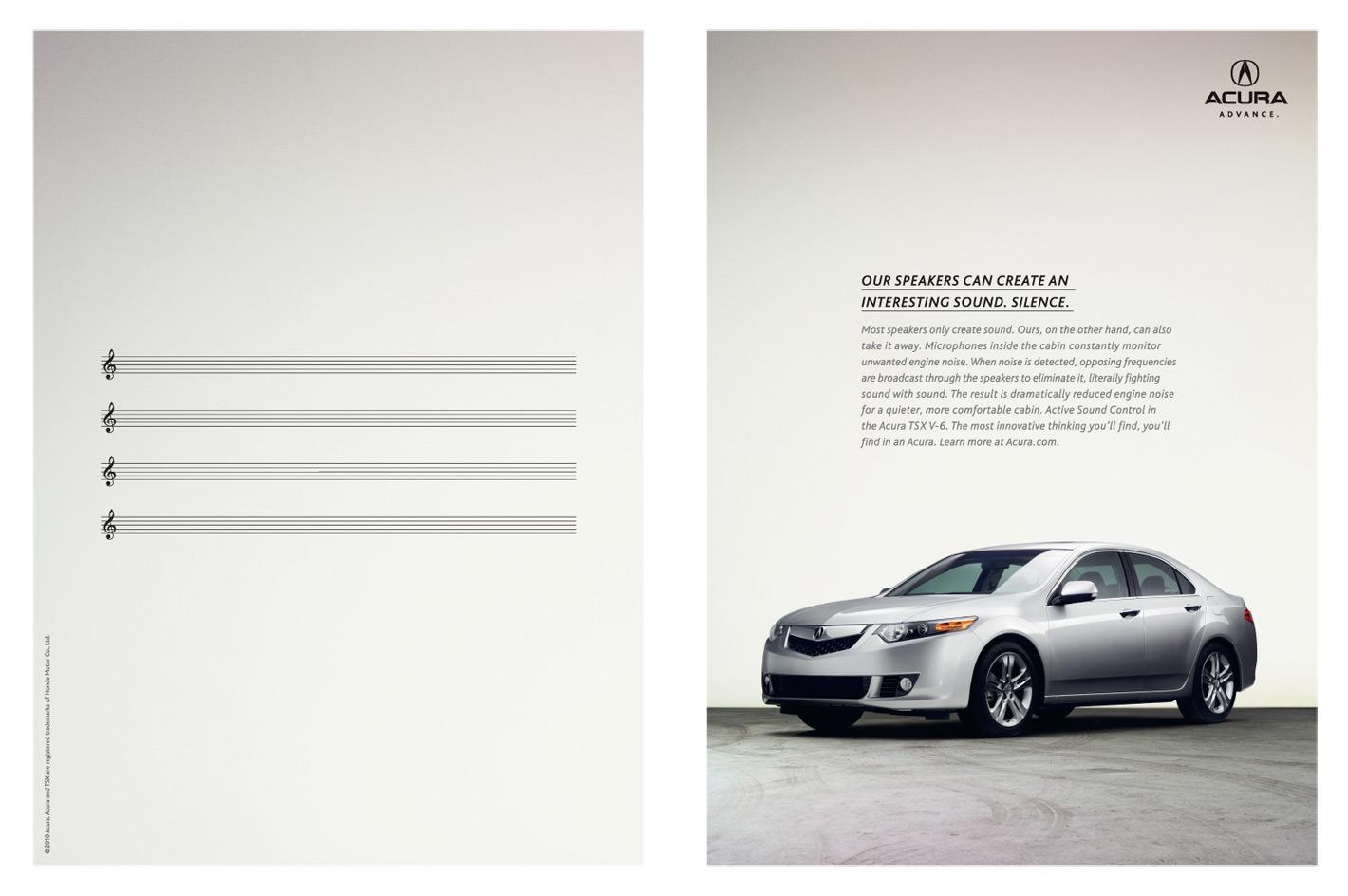 Acura Print Ad -  Interesting Sound