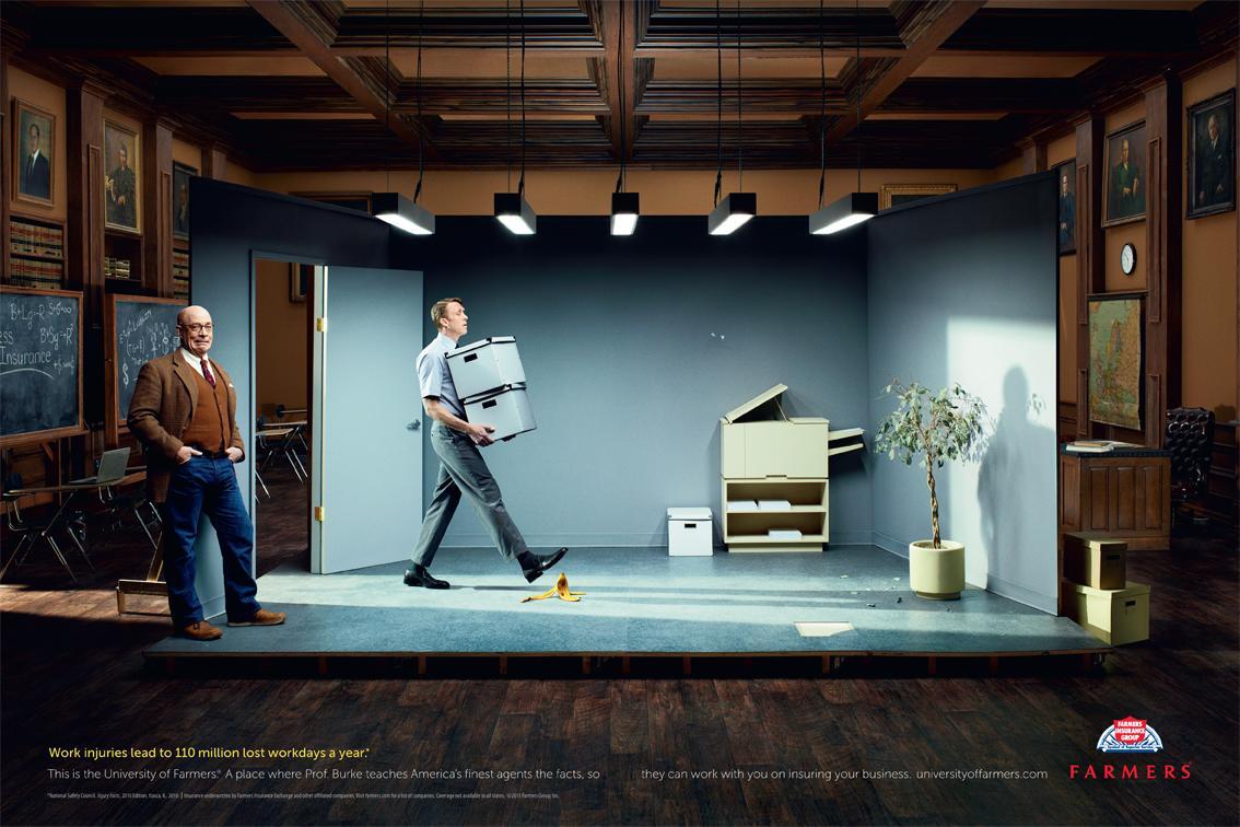 Farmers Insurance Print Ad -  Work Injuries