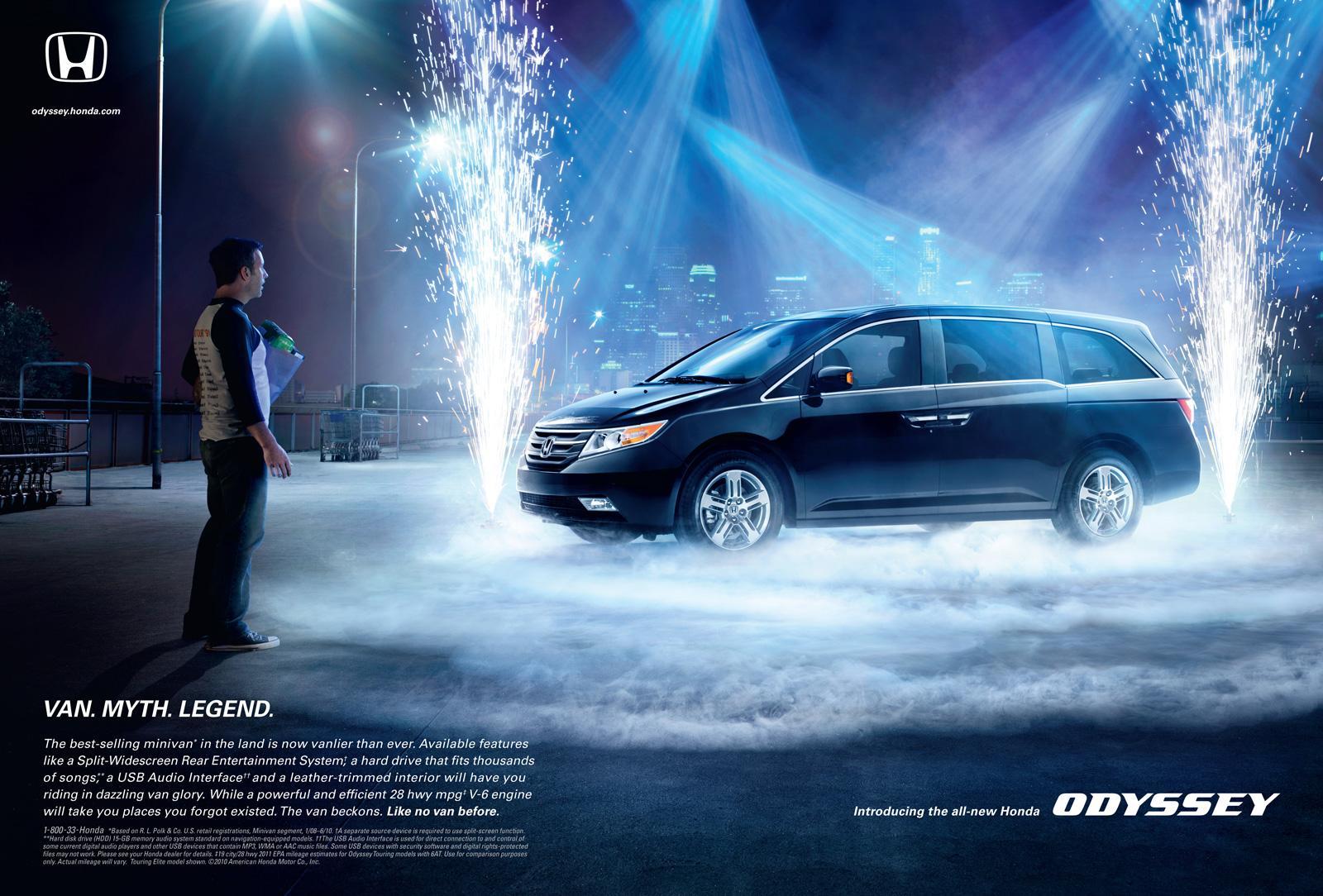 Honda Print Ad -  Rock Van