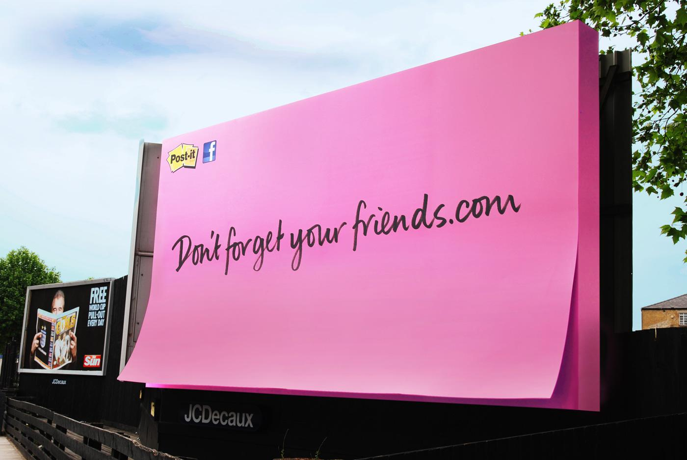3M Outdoor Ad -  Don't Forget Your Friends, Pink