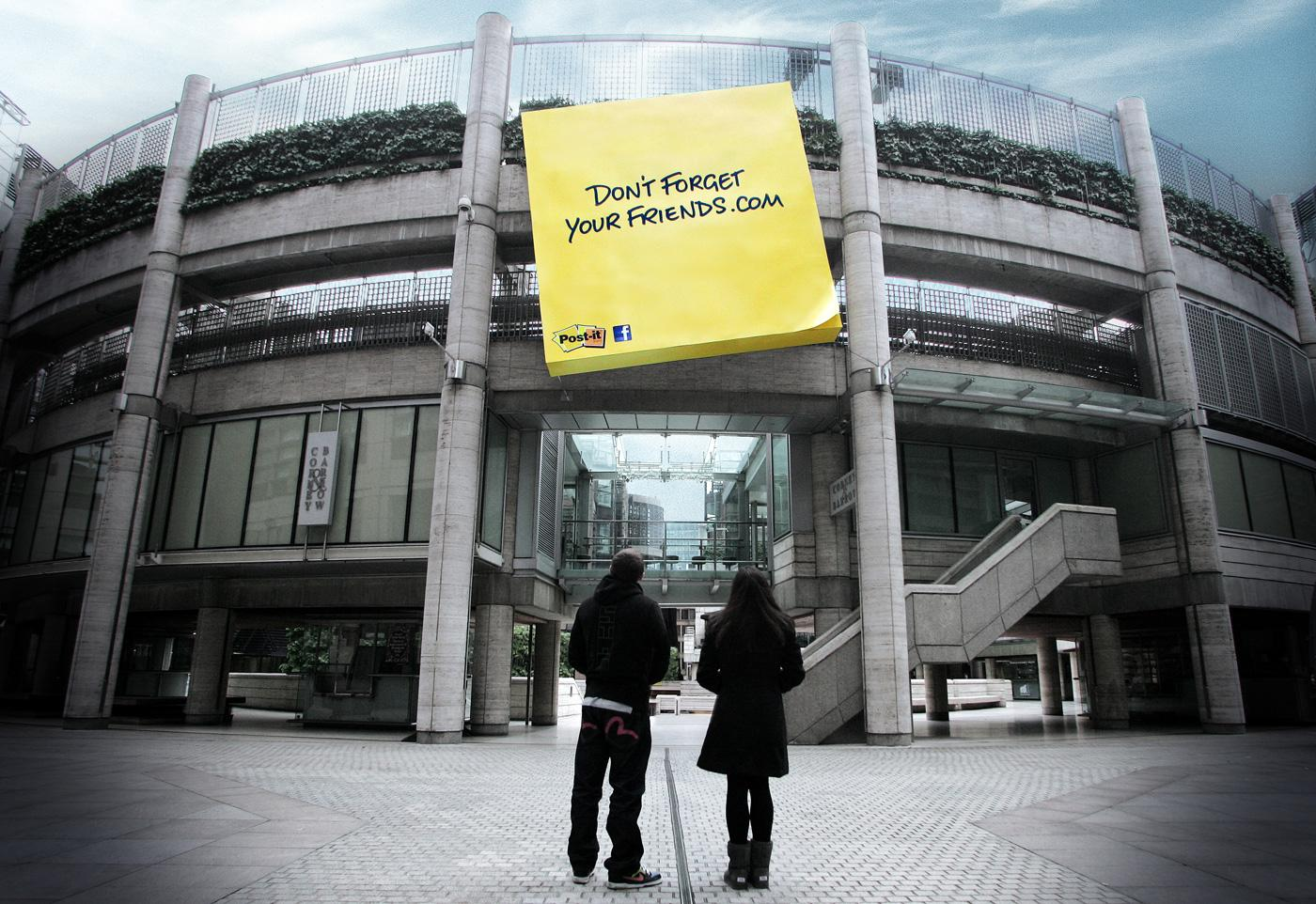 3M Outdoor Ad -  Don't Forget Your Friends, Yellow special