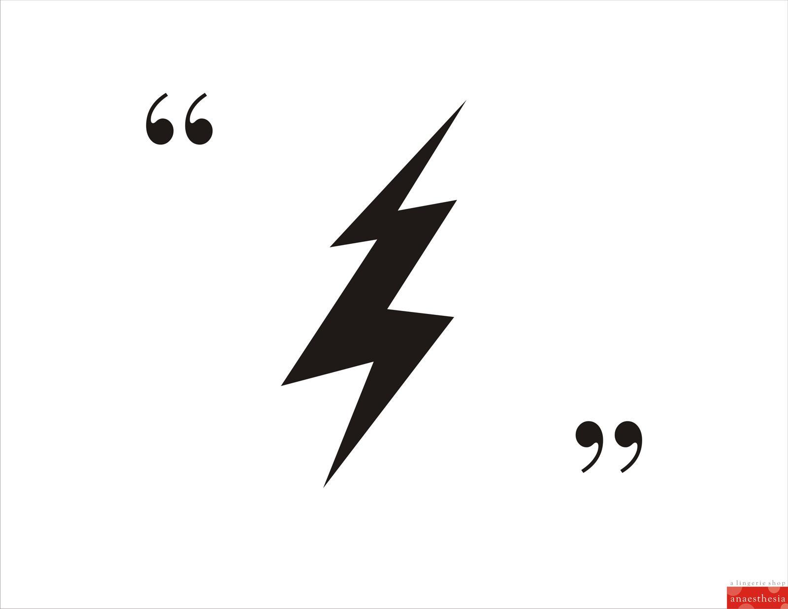 Anaesthesia Lingerie Print Ad -  Lightning
